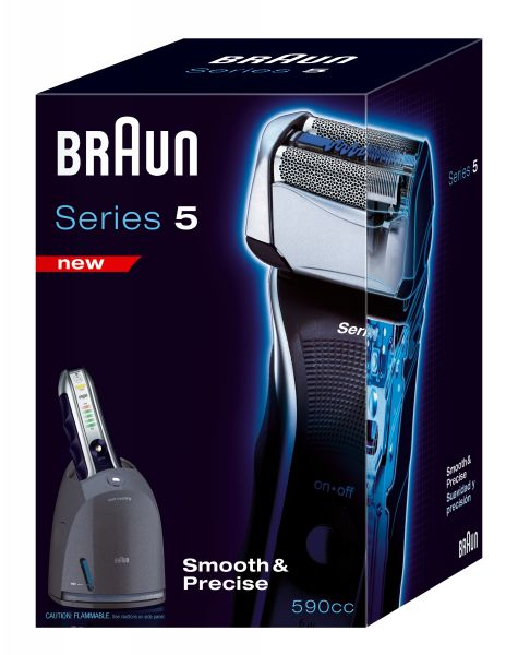 BRAUN 590cc-3 MENS CORDLESS/RECHARGEABLE SHAVER +CLEAN & CHARGE RENEW SYSTEM NEW | eBay