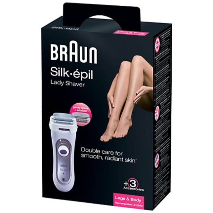 braun silk epil 5560 ladies rechargeable shaver ls5560 pouch warranty new ebay. Black Bedroom Furniture Sets. Home Design Ideas