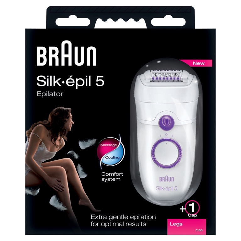braun silk epil xelle 5 5180 ladies epilator 3 extras. Black Bedroom Furniture Sets. Home Design Ideas