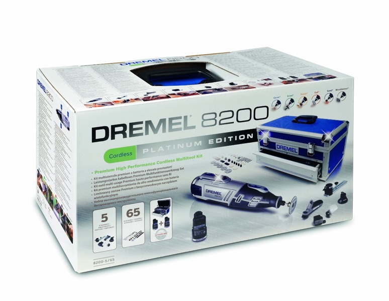 dremel 8200 5 65 8200 platinum kit 5 attachments 65 accessories 2 batteries ebay. Black Bedroom Furniture Sets. Home Design Ideas