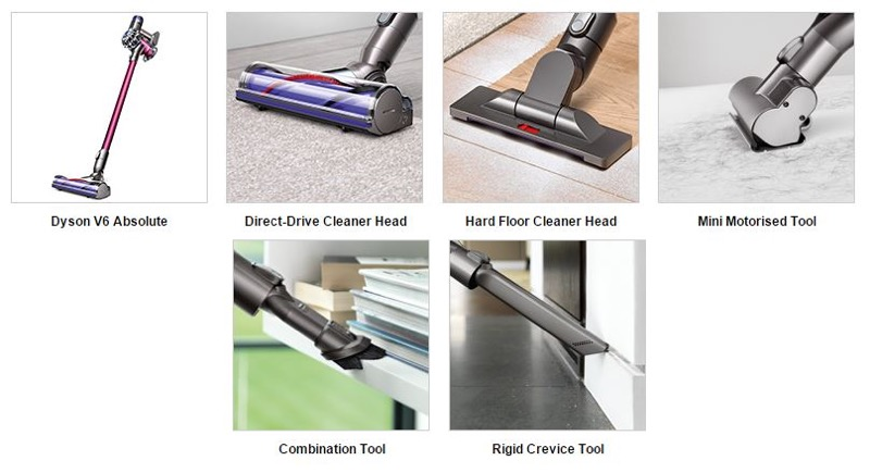 Dyson v6 absolute plus cordless vacuum hoover mini for Dyson mini motorized tool uses