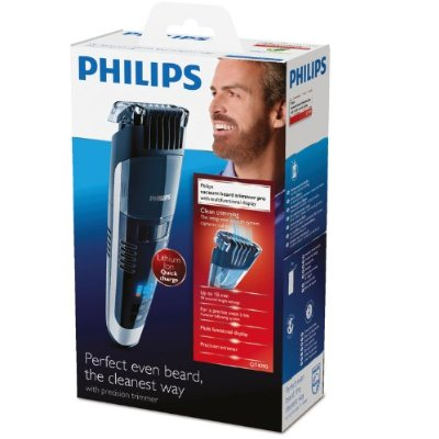 philips qt4090 mens pro stubble rechargeable vacuum beard trimmer turbo vac n. Black Bedroom Furniture Sets. Home Design Ideas