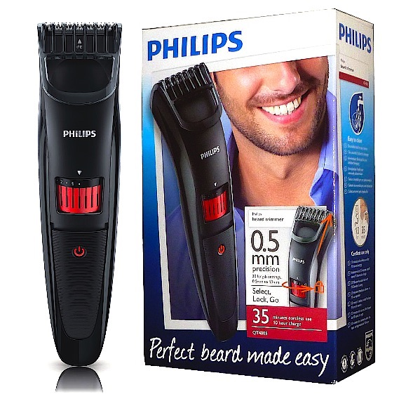 philips qt4015 mens cordless beard trimmer w titanium. Black Bedroom Furniture Sets. Home Design Ideas
