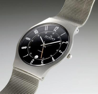 skagen mens gents ultra slim titanium watch 233xlttm grey dial skagen men s titanium slimline mesh watch 233xlttm £130rrp
