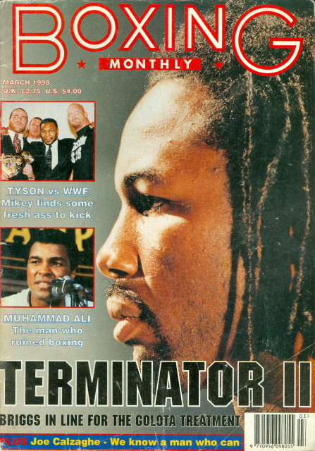 1998 Boxing Monthly Lennox Lewis vs Briggs Mike Tyson Muhammad Ali