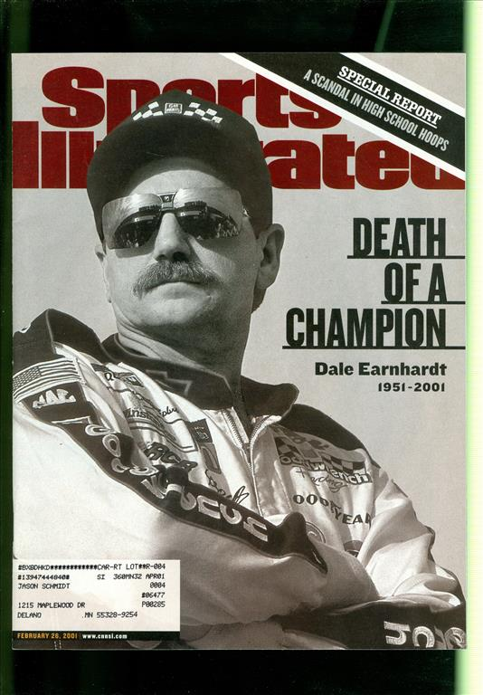 2001 Sports Illustrated Dale Earnhardt 1954 2001 Death of A Champion