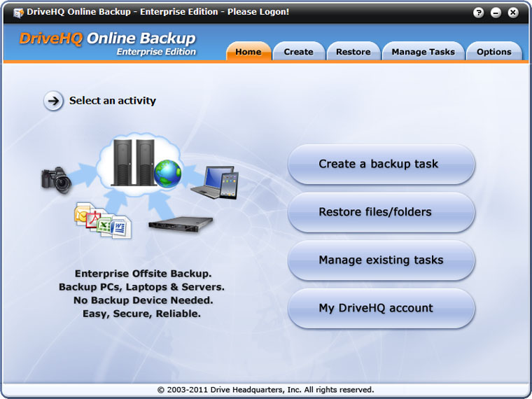 DriveHQ Online Backup Enterprise Edition 5.0.375 full