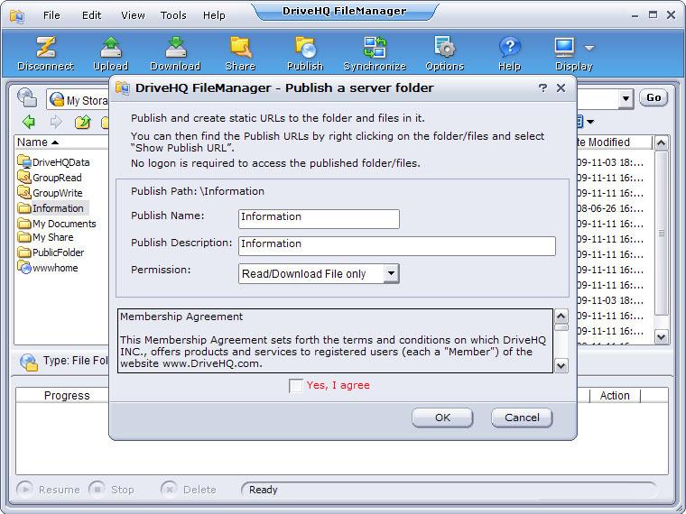DriveHQ FileManager 64-bit screenshot