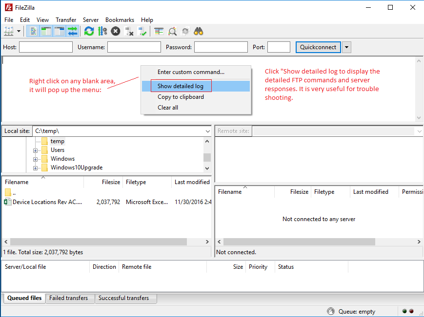 Configure FileZilla to connect to DriveHQ FTP Server using
