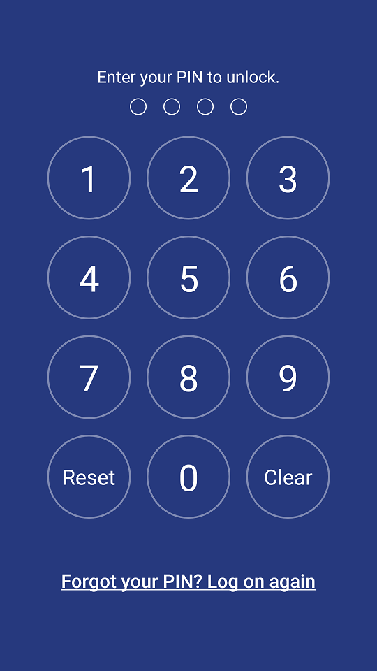DriveHQ FileManager for Android - Unlock app with a pin code