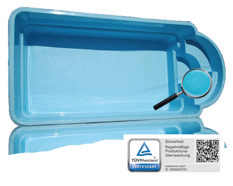 Gfk schwimmbecken set pool helios 8 50x3 70x1 55 for Gartenpool ebay