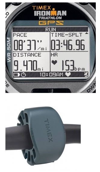 581466047913 TIMEX Ironman Global Trainer GPS Speed + Distance w Heart Rate Monitor  T5K444