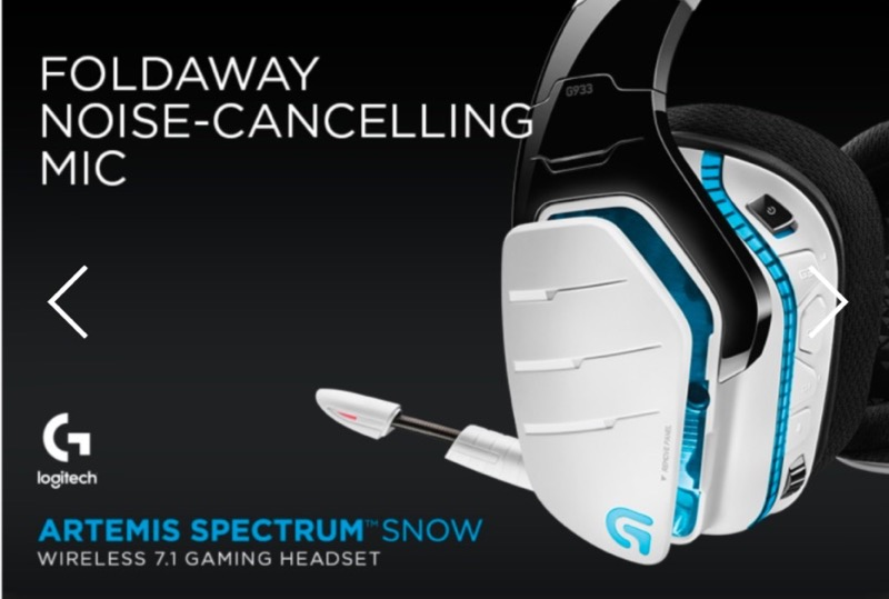 Détails : NEW LOGITECH G933 ARETEMIS SPECTRUM SNOW White Wireless 7 1 PRO  Gaming Headset
