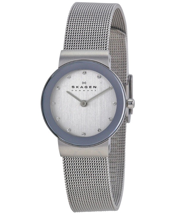 Details about SKAGEN 358SSSD Ladies ULTRA SLIM Mesh Strap Watch with  Crystal Markers NEW cc04b1c998