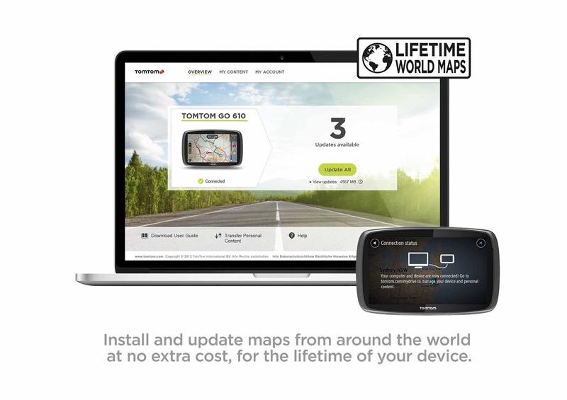 new tomtom go 51 gps sat nav system mydrive lifetime world maps traffic update ebay. Black Bedroom Furniture Sets. Home Design Ideas