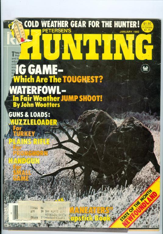 1982 Hunting Magazine Big Game Waterfowl Muzzleloader Plains Rifle Handgun