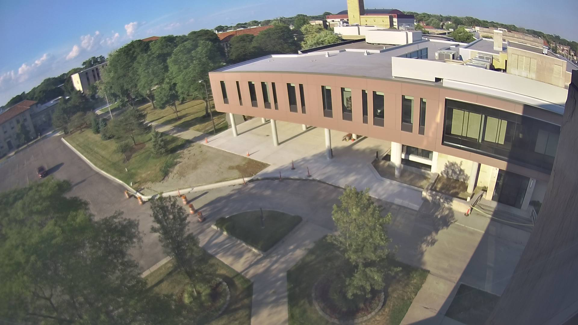 refreshed image of student union view from Fisher