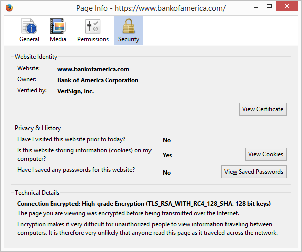 What SSL certificates, protocols and encryption types (128