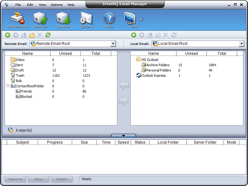 Windows 7 DriveHQ Email Manager - Outlook Backup 3.1.0.97 full