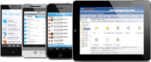 DriveHQ mobile apps for iPad, iPhone, Android and WP7