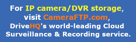 CameraFTP Cloud Surveillance service. Cloud Storage for IP cameras/DVRs