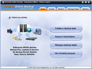 DriveHQ Online Backup screenshots - Business-class Online File / Email Backup software